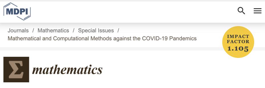 Mathematics Special Issue CoVID-19